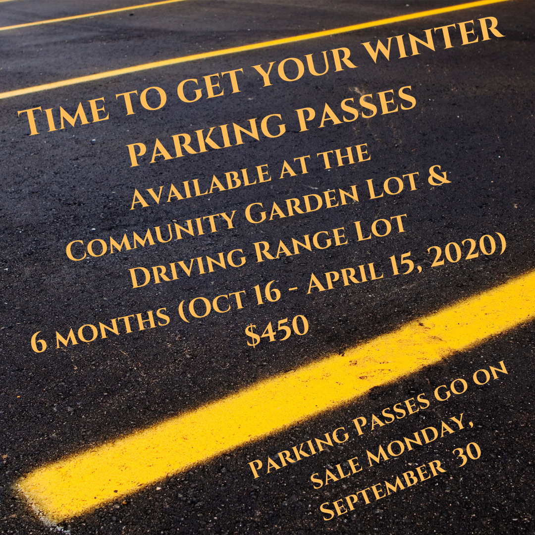 Winter Parking Pass Sale