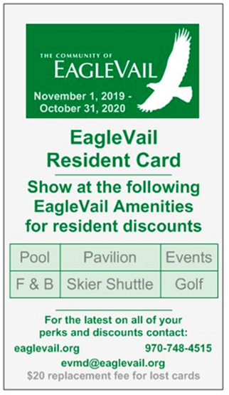 EagleVail Resident Card